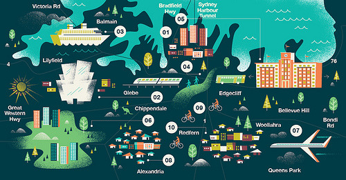 vizualize:  Sydney Map for Monocle by Brent Couchman