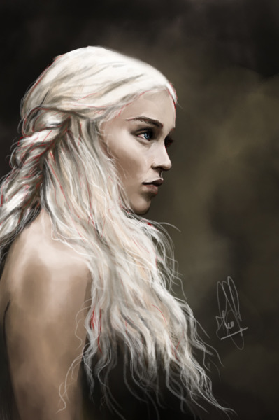 szilviah:  One of my many WIPs… She is Daenerys Targaryen from Game of Thrones.