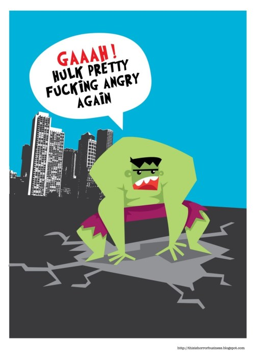 Pretty fucking angry again… illustration by Shane Jones :: via thisishorrorbusiness.blogspot.com