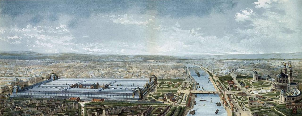 Panorama of the buildings for the Universal Exposition of 1878, Paris
