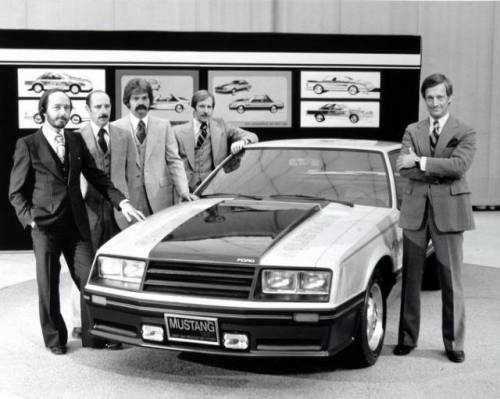 Jack Telnack and his design team, with the 1979 Mustang.