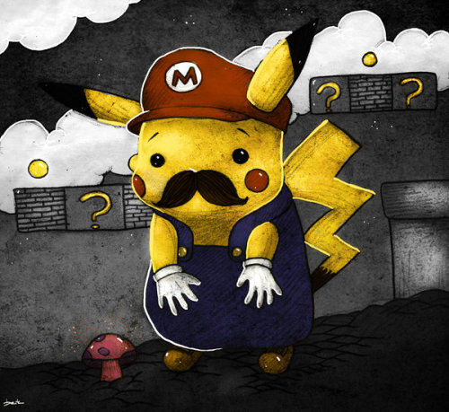 Pikachu tries to pull a fast one in this humorous Mario Bros. / Pokemon mash up illustration by Berk Ozturk. Related Rampages: Mario | Zombie Pikachu | Pikachu Bird (More) Where is the Princess? by Berk Ozturk (Facebook) (DinoDream)
