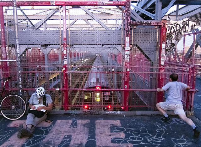Williamsburg Bridge at dusk on Flickr. Love it!! l have crossed several times:)