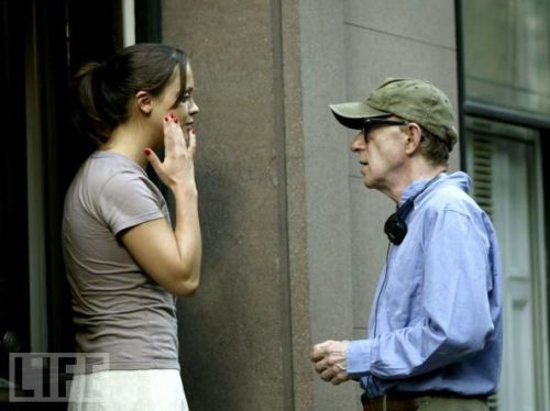 fuckyeahdirectors:  Christina Ricci and Woody Allen on-set Anything Else (2003)