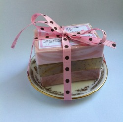 Just listed in the Dot & Lil shop: The Vintage handmade soap gift set on fine bone English china plate. http://bit.ly/imIaYL