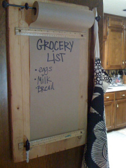 DIY Grocery List via The Suels WAY classier than my notepad!