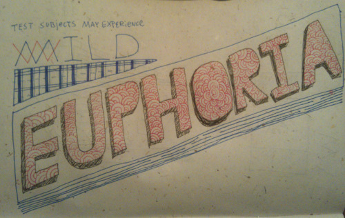 30 day drawing challenge - day 7 - drw yr fvrt wrd euphoria