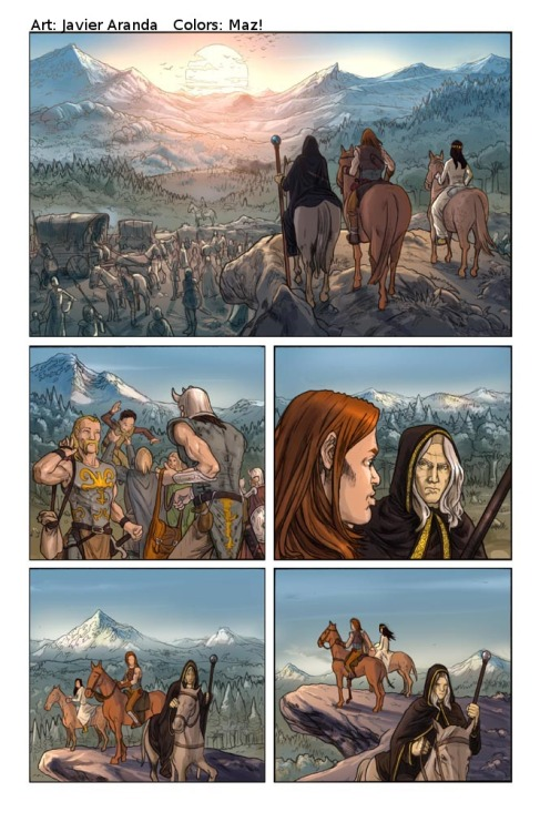"""Dragonlance Legends: War of the Twins"" #1, page 38 (Devil's Due) Pencils by me. Colours by Maz!. 2009."