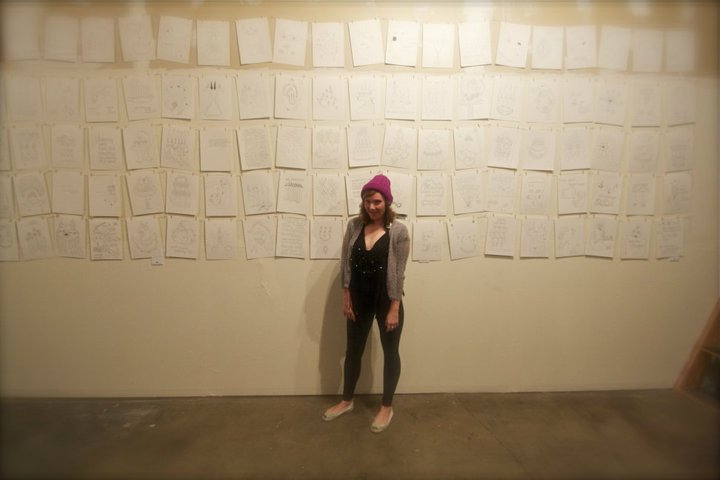 Magic Boots and 99 other drawings - first solo show at the WLLM Headquarters in Santa Rosa California.