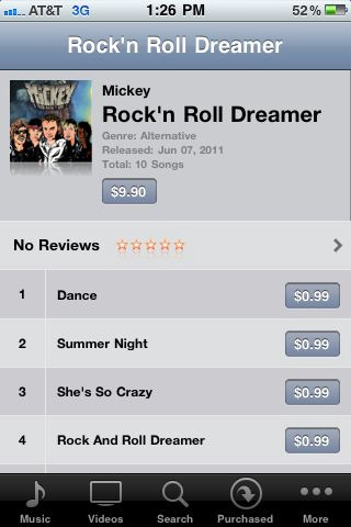 ROCK N ROLL DREAMER IS ON iTUNES!!!!!!