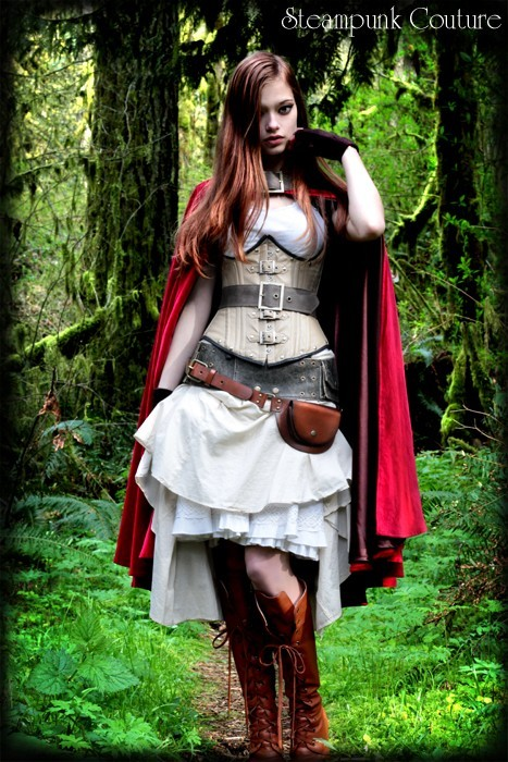 thenoblehare:  steampunk red riding hood? Love.