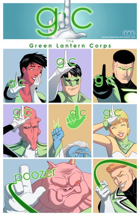 roguearrow:  nickborelli:  Green Lantern Corps meets Glee.   lmfao XD
