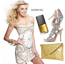Dazzle in a metallic Sherri Hill dress. Mix and match it with some silver and gold and shine away promsters!