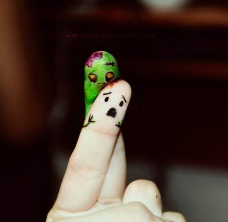 Finger zombies crave fingernails…