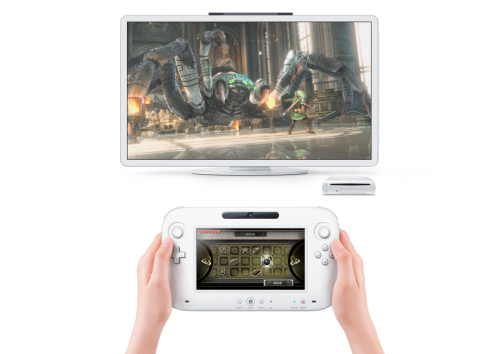 The new Nintendo Wii U Console with Controller. IM SO FUCKING EXCITING!