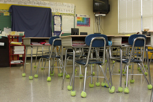 Tennis Balls on The Bottom of Chairs Source: Flickr