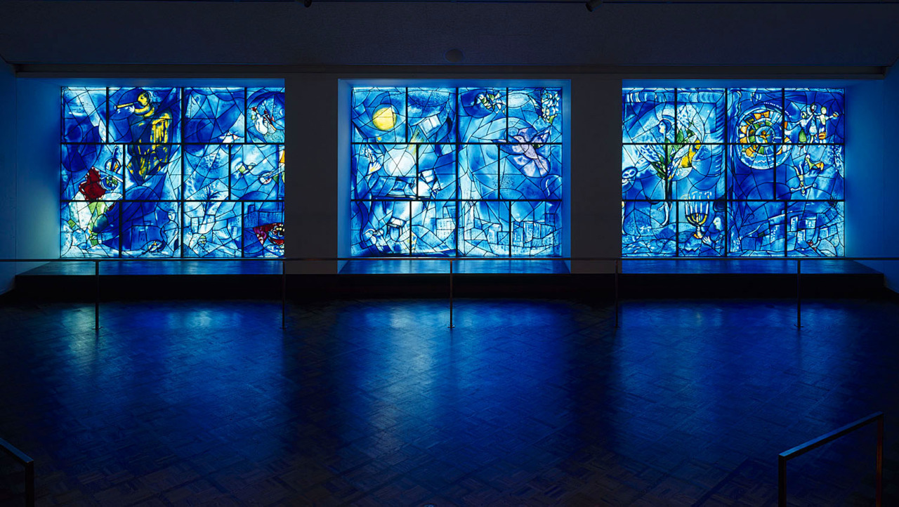 Stained glass by Marc Chagall at the Art Institute of Chicago (more brilliant than when many of us first saw them in Ferris Bueller's Day Off)