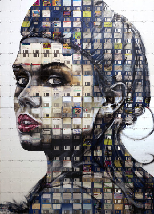 Floppy Disk Portrait by Nick Gentry