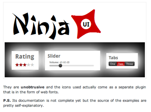 #NINJAUI lovin the name! yeah. #webdesign #UXdesign #UIdesign