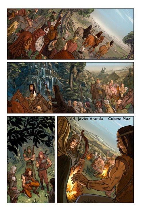 """Dragonlance Legends: War of the Twins"" #1, page 39 (Devil's Due) Pencils by me. Colours by Maz!. 2009."