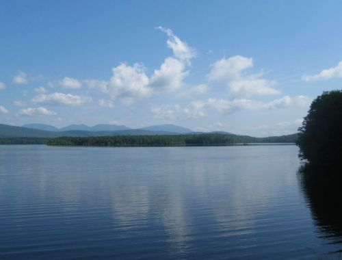 Ashokan Reservoir, Ulster County, NY, yesterday morning.
