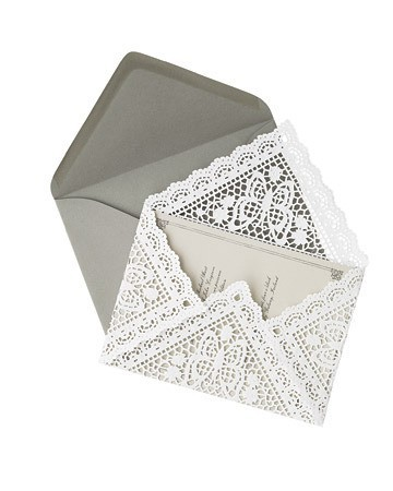 craft-a-noon:  DOILY ENVELOPE?!!! *swoon*. ok wow. If there were a pretty enevelope in the world, i dont think i could bear to see it.  There is even a tutorial to go with, and the woman who made these used them for wedding invitations. Perfect. She made the all by hand. Go her! For full tutorial and info on the maker go [here] Adorable!