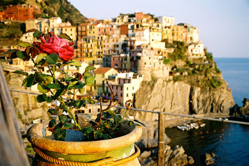 kenzerella:  Sunset Manarola, Cinque terre, italy by RvDario on Flickr.