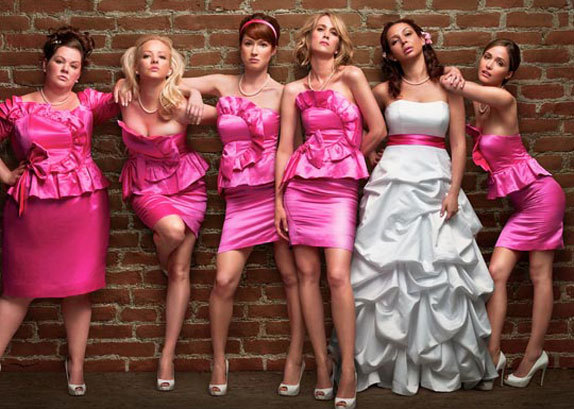 "Review: Bridesmaids (released May 2011) Spoiler Warning. Yes. But to avoid them you can stop reading after the impression.  And it was recommended to me to actually put up a disclaimer. If you aren`t going to continue reading what I have to say for fear of spoilers.. I thought I`d warn you that there are certain sexual and vulgar scenes that may make you a bit uncomfortable, although the movie was still funny if you can overlook them :) The impression. Here is the trailer: click. And this looked like it would be an endless laugh of a movie as we follow the tragic single life of Annie, whose best friend just got engaged. Another note I might want to make is that a lot of these scenes actually aren`t in the movie, or they have been altered somehow. But those particular scenes are still quite amusing. The introduction. Be warned, it isn`t how one would expect a movie to begin. So we follow Annie`s single life by getting a glimpse into her relationship in bed with this man named Ted. Except they are really not in a relationship. We are quickly introduced to Annie`s best friend Lillian, and Annie`s role as maid of honor in Lillian`s wedding. We are also informed that Annie once owned a bakery. It is quickly understood that Annie doesn`t lead either a wealthy or steady life. (Which can easily be seen in her relationship with Ted, the ""asshole"") The action. Introduce the bridesmaids: Helen, Megan, Becca and Rita. Helen is the image of perfect, pretty and rich. Her competition with Annie is quite the entertainment, especially when they are giving speeches. Megan will become Lillian`s sister-in-law, and provides a comical relief although certain audiences will be appalled even though you won`t be able to help a smile or a small laugh. Becca is a more minor role, she is innocent and very agreeable to anything. Rita is a bittersweet wife and mother of three sons. The combination of the girls makes this movie hilarious. Annie herself has a good sense of humor (or sarcasm rather), although as her life unravels slowly, it is quite a tough spot she`s got herself in. The ending. I must say that the end was a little uncalled for. Depending which part of the end you would call the end. The happy little ending was nice, Helen and Annie become friends (as close to friends as they can get it seems), Annie and Lillian make up after their fight at the bridal shower, Annie and Officer Nathan Rhodes also make up (it is implied that Helen had a hand in arranging Annie`s ride after the wedding), and everything just seems to somewhat fall back into place. Then we have Lillian`s favorite band sing us towards the end, and what a lovely song it is. Quite shortly after when you would expect credits, enter Megan and the guy who she was seated next to on their flight. And…. Let`s just say you could be either cringing, laughing or again appalled. The plot. For a comedy, Annie`s life becomes quite depressing if you take out all the comic relief. She loses her job, loses her best friend, loses her ""relationship"" with Nathan, loses her confidence, gets rear ended, and is forced to move back into her mother`s place even. All while she is planning (rather trying to plan) Lillian`s wedding, which clearly does not go well when Helen tries to take over and win the title of Lillian`s best friend. Their little competition between each other in tennis got quite a few laughs out of me. The plot basically surrounds Annie`s struggles in life, and how she hits rock bottom before things start to get better. The cast. I loved Rose Byrne, she played the picture of perfection. But even for Helen, underneath the perfect life she leads, she has her troubles and her imperfections that you can`t judge based on the impression you get of her. I.. admire Melissa McCarthy for being able to play the particular role that she did; Megan at times really disgusted me, especially when they all had food poisoning.. The opinion. I actually found my tear ducts starting to run when everything in Annie`s life started to fall apart. Sure the movie was still funny, but I couldn`t help but sympathize with her. Becoming jobless, homeless, friendless and loveless is something I think anyone would be terrified of. She makes quite the character, still being quite able to smile and pull through despite everything else happening in her life. So although I wouldn`t watch this movie again, I think for the most part this is still good comedy. And definitely not your average chick flick, since the emphasis isn`t really on Annie`s relationship status. 3.5 Stars."