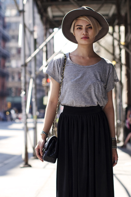 thecapriciousclub:  (via The Sartorialist: Fashion Above the Neck, New York)