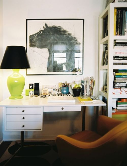 Interior Design by Angel Dormer, from Lonny Magazine Jan/Feb 2011 Small Home Office Design