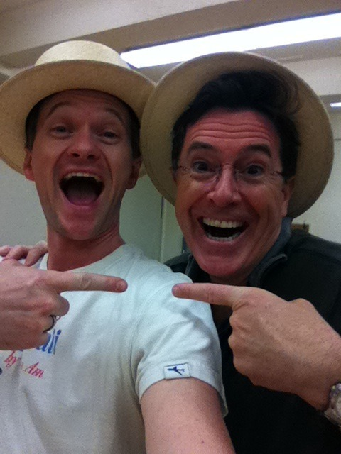 Neil Patrick Harris and Stephen Colbert (submitted by estherkimchi)