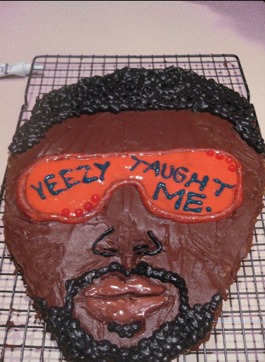 brain-power:  Tomorrow is Kanye West's birthday, and I am to have a party to celebrate with a few of my friends. Today we made this cookie with his face on it to have at the party tomorrow. It is enormous, and awesome. YEEZY TAUGHT ME.  this needs to be here