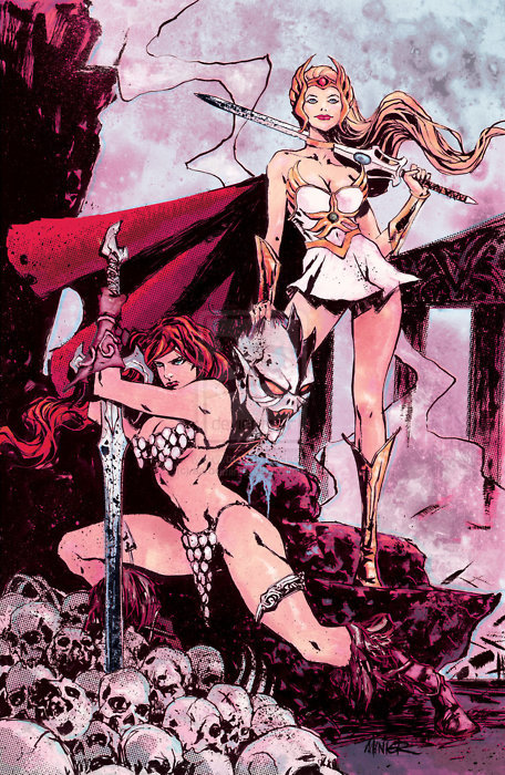 She-Ra, Red Sonia and Hordak.  Well, part of him anyway.