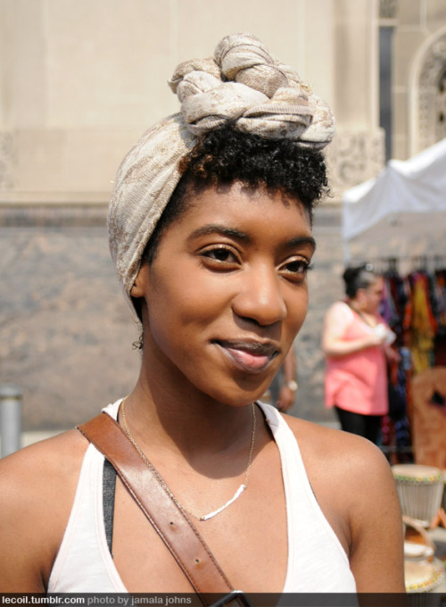 Alexis, director of photography, at BAM's DanceAfrica Bazaar.