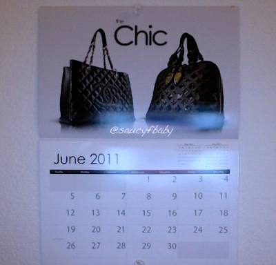 "—- How ""chic"" is my calendar? Hehe. ;)"