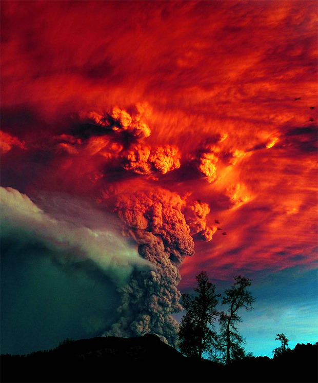 Chile Volcano Eruption 2011