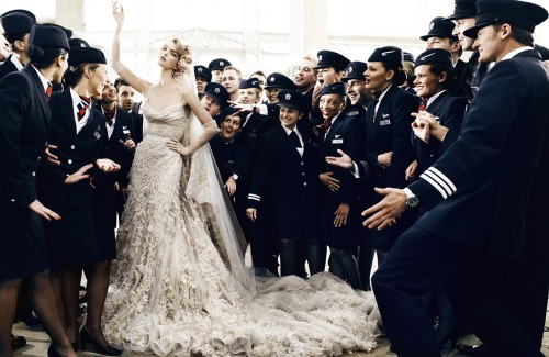 """Wedding Belles""  Vogue UK, May 2011  photographer: Mario Testino  Arizona Muse noirfacade: Wedding Belles 