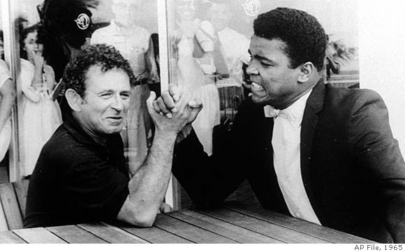 Norman Mailer arm wrestling Muhammad Ali (submitted by Anse)