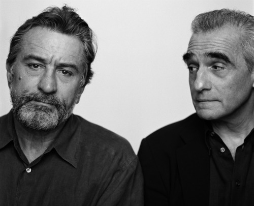rachaelnotrachel:  Robert De Niro and Martin Scorsese photographed by Brigitte Lacombe in 2002.
