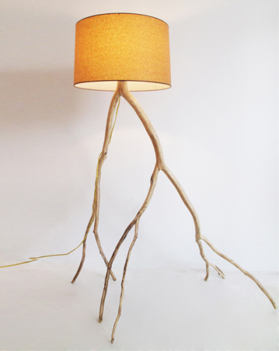 "Adding credit for the artist, Meghan Finkel, who makes her ""Branch Lights"" from fallen branches, and touchconceptstore, where her work can be purchased."