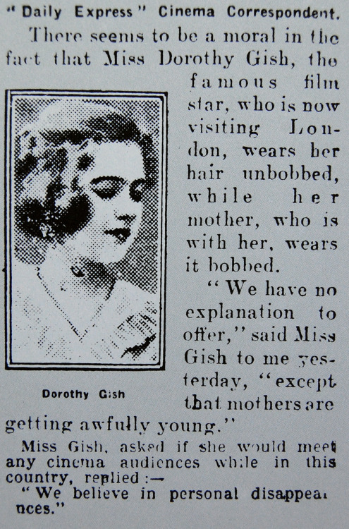 shhme:  Daily Express, January 10, 1926.  OMG I LOVE THIS SO MUCH