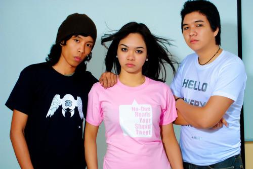 "Thesis ""T-shirt Design"" Model: Cian constantino, Alex Tantoco, Vanz leavado Photographed by: Mike Esperanza Balutan T-shirt design By: Mike Esperanza Balutan Thesis By: Mike Esperanza Balutan"