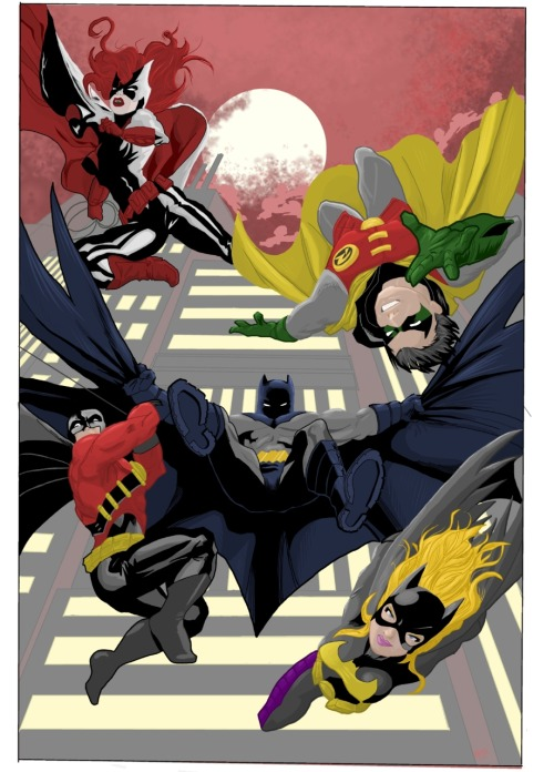 discowing:  Bat Family 2011 by *raw-bizzo on deviantART