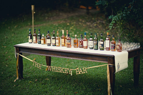 """the whiskey bar""… love the idea and the sign is adorable!"