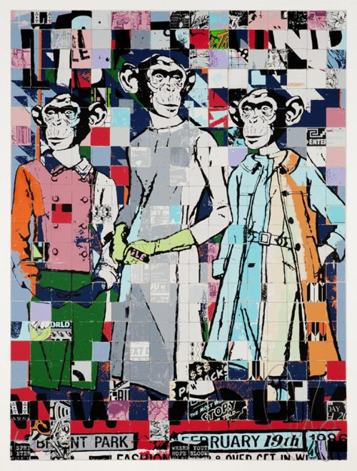 paxmachina:  Faile - Fashion Chimps (NYC)