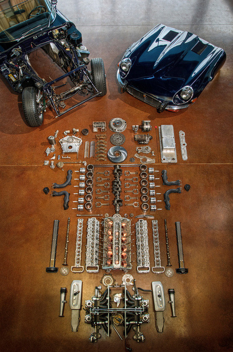 ziio:  Dismantled Jaguar E Type