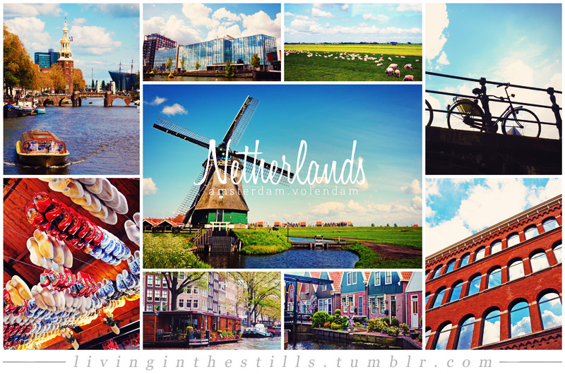 Travel Collage #6: NetherlandsCities included: Amsterdam & Volendam Travel Collage List