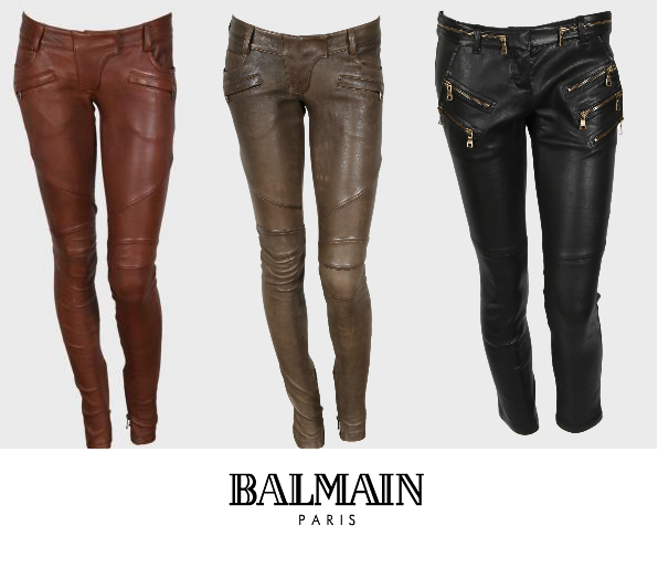 Balmain Women's Leather Trousers for Fall 2011