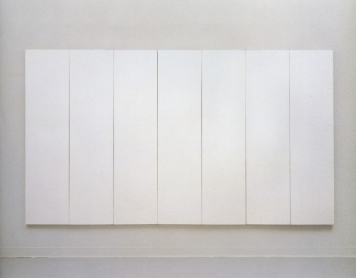 Absolutely love this painting. ahnini: White Painting (Seven Panel) - Robert Rauschenberg, 1951