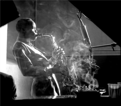 theimpossiblecool:  Sonny Stitt, Saxophonist, New York, 1953
